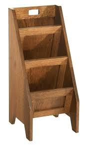 magazine rack wood hardwood mission three tier wall mount bathroom80 rack