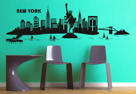 wall decal new york skyline 2 big apple at its best cities places  on new york skyline wall art stickers with new york skyline 2 wall decal big apple vinyl decor