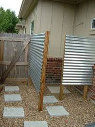 I Outdoor Shower To Rinse Off I Like The Galvanized Tin But Maybe Something  Else