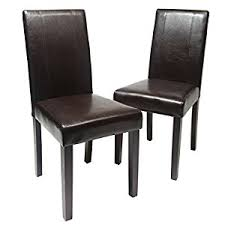 roundhill furniture urban style solid wood leatherette padded parson chair brown set of 2 brown solid wood furniture
