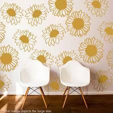 Sunflower Pattern Beauteous Sunflower Pattern Wall Decal Shop Decals At Dana Decals