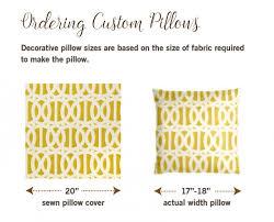 regular pillow size. Brilliant Regular How To Order Custom PIllows For Regular Pillow Size S