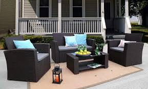 Ebern Designs Edward 4 Piece Rattan Sofa Seating Group with