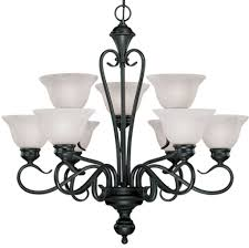 devonshire matte black chandelier alabaster glass 29 wx28 h