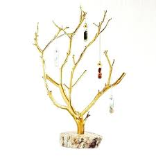 gilded branches jewelry tree hanger stands
