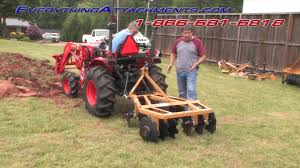 garden disc. How To Disc Your Garden With A Kubota Tractor I