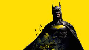 Wallpaper 4k Batman Yellow Background ...