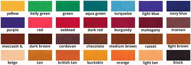 Fiebings Suede Dye Color Chart Fiebings Leather Dye Smooth Leather Dye