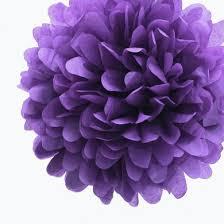 How To Make Fluffy Decoration Balls EZFluff 100 Dark Purple Tissue Paper Pom Poms Flowers Balls 57