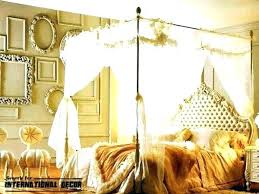 Curtains For Canopy Bed Frame Tropical Bedroom Curtains Enchanting ...