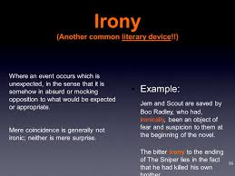 a short story the sniper by liam o flaherty ppt video online  8 irony