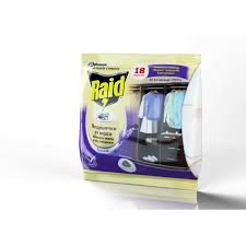средство от моли raid подушечки 18 шт зеленый чай
