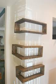 set of 3 shelves modern corner shelf