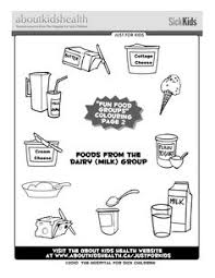 Small Picture Colouring page for kids the snacks and extras food group