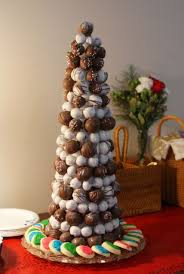 Christmas tree made out of styrofoam, toothpicks and then any type of candy  or cake balls. In this tree I used peanut butter balls, chocolate covered  grapes ...