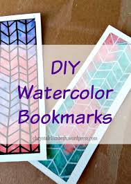 Design Handmade Bookmarks Diy Watercolor Bookmarks How I Made It Step By Step