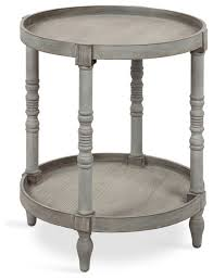 bellport round wood side table with