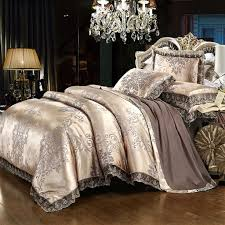 satin embroidery duvet cover set luxury european neoclassical style bedding 3 piece comforter cover and 2