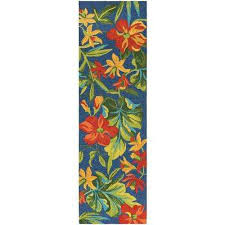 covington tropical orchid azure forest green red 2 ft 6 in x