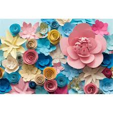 Paper Flower Background Digital Printing Colorful 3d Paper Flowers Vinyl Backdrop For Photography Baby Newborn Photo Props Kids Children Photographic Backgrounds