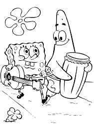 Small Picture Baby Spongebob And Patrick Coloring Pages Coloring Coloring Pages