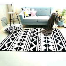 white rugs for living room black and white rug bedroom fashion black white geometric ethnic hallway