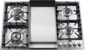 36 inch gas cooktop with griddle. Interesting With Ilve UXLP90FLP  Front View For 36 Inch Gas Cooktop With Griddle AJ Madison