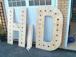 Giant Light Up Letters Step By Step Guide To Making Your Own Giant Light Up Letters