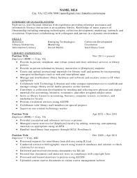 resume for librarian position cipanewsletter resume library elementary school librarian resume sample academic