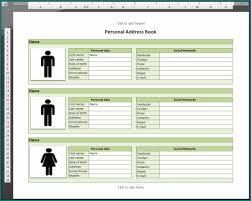 Microsoft Office Address Book Template Free Free Customizable Excel Address Book Template 1001