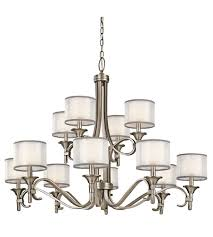 kichler 42383ap lacey 12 light 42 inch antique pewter chandelier ceiling light
