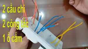 lắp bảng điện, mạch điện 2 cầu chì 2 công tắc 1 ổ cắm 2 bóng đèn - YouTube