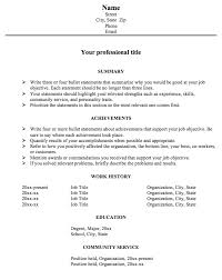 Achievement Resume Template