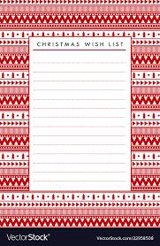 Blank Christmas List Christmas Wish List Blank Paper Printable