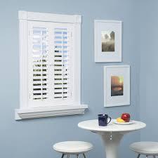 homebasics plantation faux wood white interior shutter varies by size