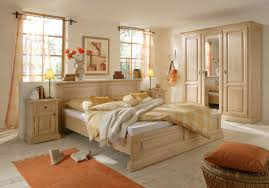 Schlafzimmer Komplett Bett Schrank Nachtkommoden Fichte Massiv