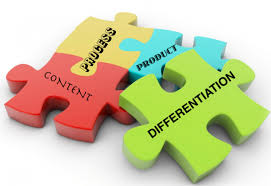 Image result for differentiation through content process and product