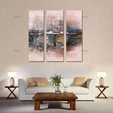 3 piece large canvas wall art acrylic knife  on 3 piece wall art with 3 piece large canvas wall art acrylic knife modern oil painting on
