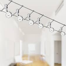 spotlight track lighting. Track Spotlight - 6 X LED Head Suspension Wire Kit System Lighting 2