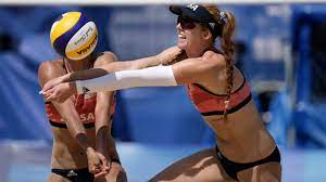 ousted in beach volleyball ...