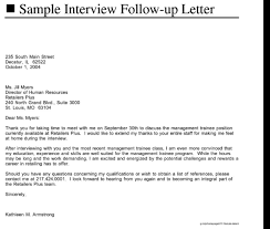 Gallery Of Sample Followup Letter After Interview