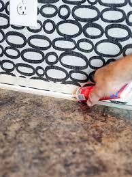 caulking kitchen backsplash. Finish With Clear Caulk Caulking Kitchen Backsplash