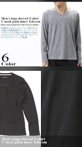 ランダムテレコ 丸首 Vネック ロングtシャツメンズファッション通販