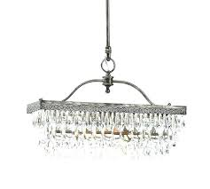 rectangular glass chandelier drop pendant weston crystal chan