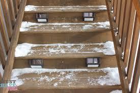 outdoor stairway lighting. plow u0026 hearth set of four solar step lights outdoor stairway lighting