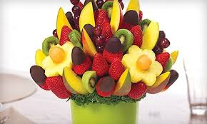 chocolate dipped fruit bouquet