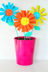 Easy Paper Flower How To Make Paper Flowers For Kids With Toilet Paper Rolls