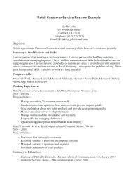 Skills List On Resumes Sample Resume Customer Service Brilliant