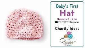 Crochet Newborn Hat Pattern Fascinating Crochet Baby's First Newborn Hat 48 48 Lbs Tutorial The Crochet