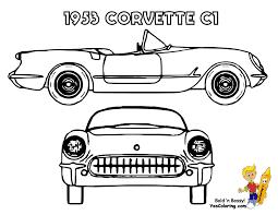 Chevrolet Corvette 1982 Coloring Page Corvette